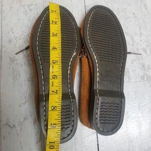 Minnetonka Shoes - Minnetonka 173 Brown Suede Beaded Moccasins Sz 7